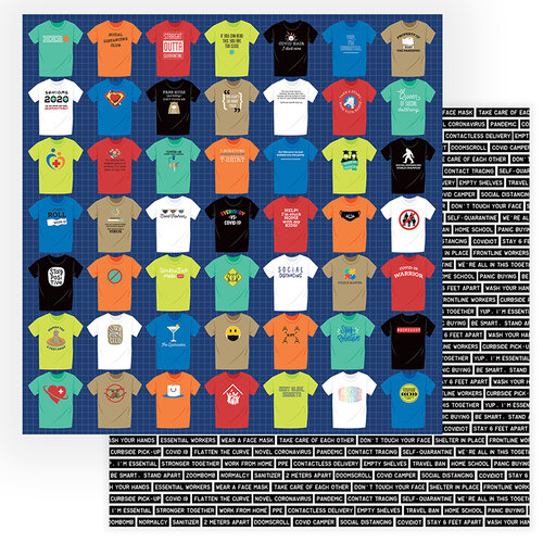 Photo Play Paper - The New Normal Collection - 12 x 12 Double Sided Paper - T-Shirts