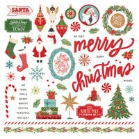 Photo Play Paper - The North Pole Trading Co. Collection - Christmas - Element Stickers