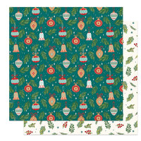 Photo Play Paper - The North Pole Trading Co. Collection - Christmas - 12 x 12 Double Sided Paper - Trim The Tree