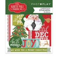 Photo Play Paper - The North Pole Trading Co. Collection - Christmas - Die Cut Cardstock Pieces - Ephemera