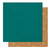 Photo Play Paper - The North Pole Trading Co. Collection - Christmas - 12 x 12 Double Sided Paper - Solids - Blue and Gold