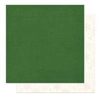 Photo Play Paper - The North Pole Trading Co. Collection - Christmas - 12 x 12 Double Sided Paper - Solids - Green and Cream