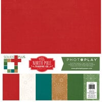 Photo Play Paper - The North Pole Trading Co. Collection - Christmas - 12 x 12 Paper Pack - Solids