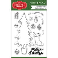 Photo Play Paper - The North Pole Trading Co. Collection - Christmas - Clear Photopolymer Stamps - Trim A Tree