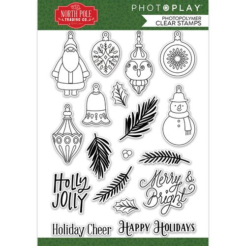 Photo Play Paper - The North Pole Trading Co. Collection - Christmas - Clear Photopolymer Stamps - Deck The Halls