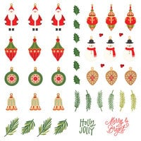 Photo Play Paper - The North Pole Trading Co. Collection - Christmas - 12 x 12 Single Sided Paper - Pre-Colored Die Cut Outs - Deck The Halls