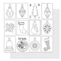 Photo Play Paper - The North Pole Trading Co. Collection - Christmas - 12 x 12 Double Sided Paper - Color Me Ornaments