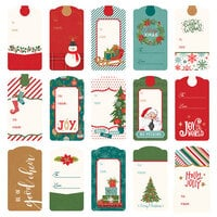 Photo Play Paper - The North Pole Trading Co. Collection - Christmas - 12 x 12 Double Sided Paper - Pre-Colored Die Cut Outs - Tags
