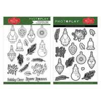 Photo Play Paper - The North Pole Trading Co. Collection - Christmas - Clear Photopolymer Stamps and Dies - Deck The Halls Bundle
