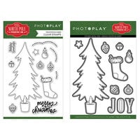 Photo Play Paper - Christmas - The North Pole Trading Co. Collection - Clear Photopolymer Stamps and Dies - Trim A Tree Bundle
