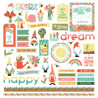 Photo Play Paper - Tulla and Norbert Collection - 12 x 12 Cardstock Stickers - Elements