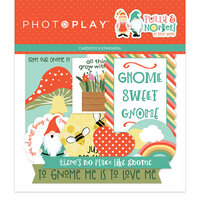 Photo Play Paper - Tulla and Norbert Collection - Die Cut Cardstock Pieces - Ephemera