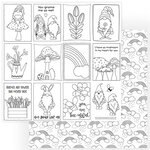Photo Play Paper - Tulla and Norbert Collection - 12 x 12 Double Sided Paper - Color Me