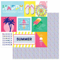 Photo Play Paper - Those Summer Days Collection - 12 x 12 Double Sided Paper - Chill Out