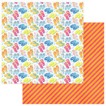 Photo Play Paper - Those Summer Days Collection - 12 x 12 Double Sided Paper - Flip Flops