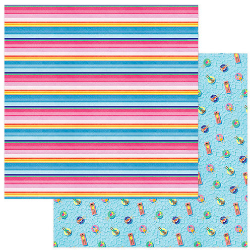 Photo Play Paper - Those Summer Days Collection - 12 x 12 Double Sided Paper - Cabana