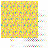 Photo Play Paper - Those Summer Days Collection - 12 x 12 Double Sided Paper - Chilly Pops