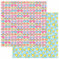 Photo Play Paper - Those Summer Days Collection - 12 x 12 Double Sided Paper - Sunnies