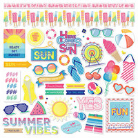 Photo Play Paper - Those Summer Days Collection - 12 x 12 Cardstock Stickers - Elements