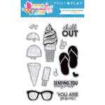 Photo Play Paper - Those Summer Days Collection - Clear Acrylic Stamps