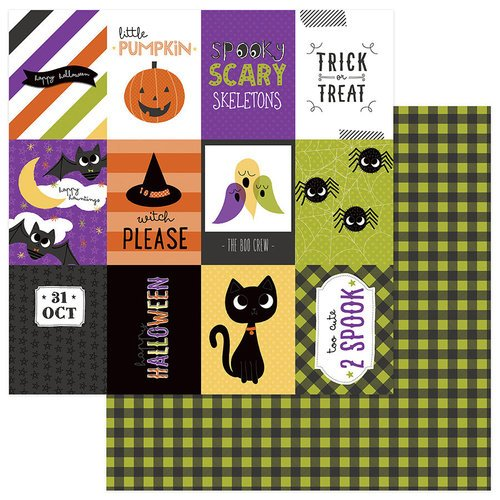 Photo Play Paper - Trick or Treat Collection - Halloween - 12 x 12 Double Sided Paper - Happy Boo Day