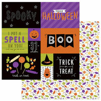 Photo Play Paper - Trick or Treat Collection - Halloween - 12 x 12 Double Sided Paper - Scared Silly