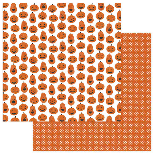 Photo Play Paper - Trick or Treat Collection - Halloween - 12 x 12 Double Sided Paper - Hey Pumpkin!