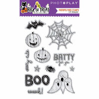Photo Play Paper - Trick or Treat Collection - Halloween - Clear Acrylic Stamps
