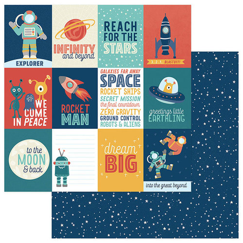 Photo Play Paper - To the Moon and Back Collection - 12 x 12 Double Sided Paper - Reach For The Stars