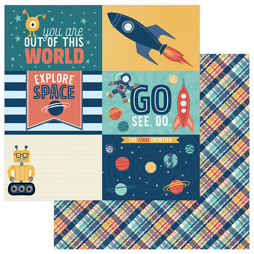 Photo Play Paper - To the Moon and Back Collection - 12 x 12 Double Sided Paper - Out Of This World