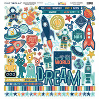 Photo Play Paper - To the Moon and Back Collection - 12 x 12 Cardstock Stickers - Elements