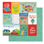 Photo Play Paper - Time to Travel Collection - 12 x 12 Double Sided Paper - 3 Day Vacay