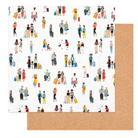 Photo Play Paper - Time to Travel Collection - 12 x 12 Double Sided Paper - Travelers