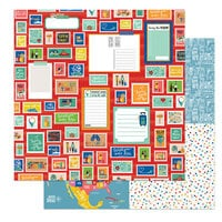 Photo Play Paper - Time to Travel Collection - 12 x 12 Double Sided Paper - Tourist Mode