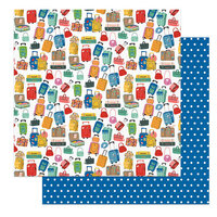 Photo Play Paper - Time to Travel Collection - 12 x 12 Double Sided Paper - Luggage