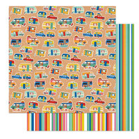 Photo Play Paper - Time to Travel Collection - 12 x 12 Double Sided Paper - Let's Go