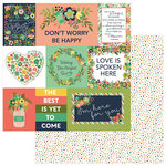 Photo Play Paper - Thinking of You Collection - 12 x 12 Double Sided Paper - Be Strong