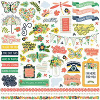 Photo Play Paper - Thinking of You Collection - 12 x 12 Cardstock Stickers - Elements