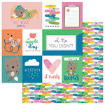 Photo Play Paper - Under the Weather Collection - 12 x 12 Double Sided Paper - Owie