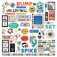 Photo Play Paper - MVP Volleyball Collection - 12 x 12 Cardstock Stickers - Elements