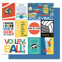 Photo Play Paper - MVP Volleyball Collection - 12 x 12 Double Sided Paper - Spike
