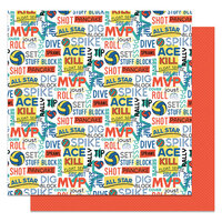 Photo Play Paper - MVP Volleyball Collection - 12 x 12 Double Sided Paper - Block