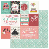 Photo Play Paper - Vintage Girl Collection - 12 x 12 Double Sided Paper - Vintage Cards