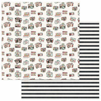 Photo Play Paper - Vintage Girl Collection - 12 x 12 Double Sided Paper - Razzle Dazzle