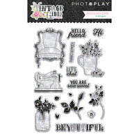 Photo Play Paper - Vintage Girl Collection - Clear Acrylic Stamps