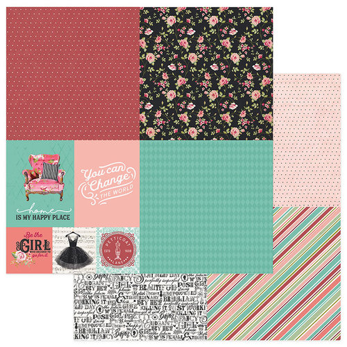 Photo Play Paper - Vintage Girl Collection - Tiny Prints - 12 x 12 Double Sided Paper - Quad 2