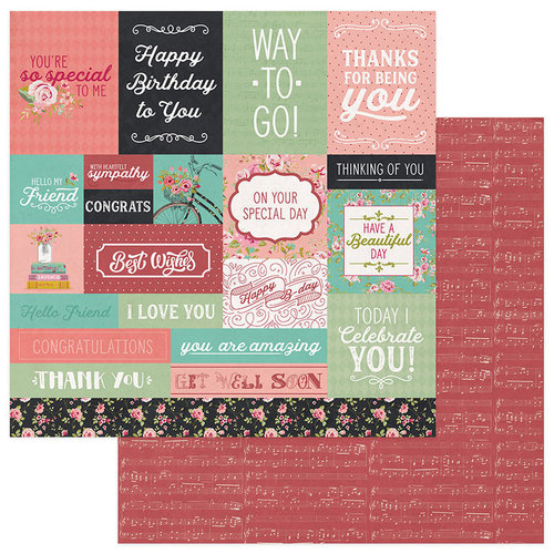Photo Play Paper - Vintage Girl Collection - Tiny Prints - 12 x 12 Double Sided Paper - Cut Apart Cards