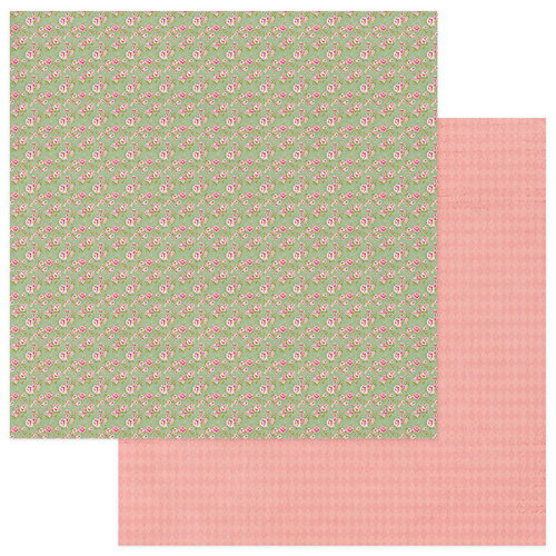 Photo Play Paper - Vintage Girl Collection - Tiny Prints - 12 x 12 Double Sided Paper - Green Floral
