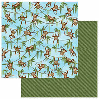 Photo Play Paper - We Bought a Zoo Collection - 12 x 12 Double Sided Paper - Monkey Business