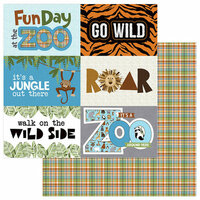 Photo Play Paper - We Bought a Zoo Collection - 12 x 12 Double Sided Paper - Animal Kingdom